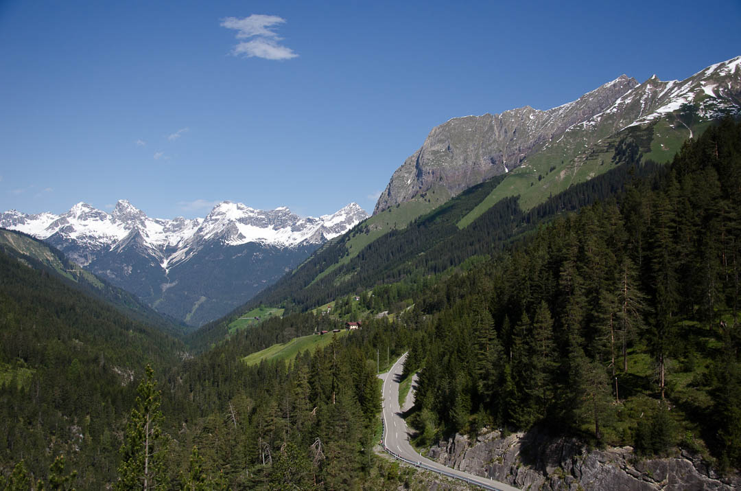 Pas tussen Elmen Lechtal en Imst Inntal