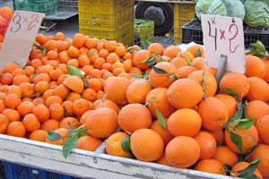 Groenten en fruit op de markt van La Mata