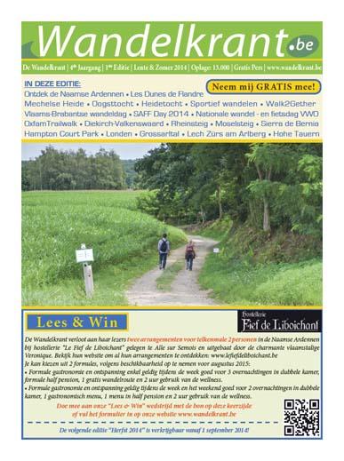 Wandelkrant Lente & Zomer editie 2014 Cover Small