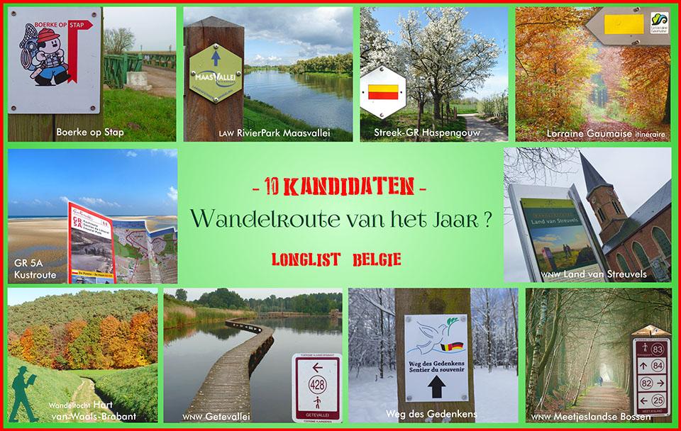 Shortlist wandelroute van het jaar 2015
