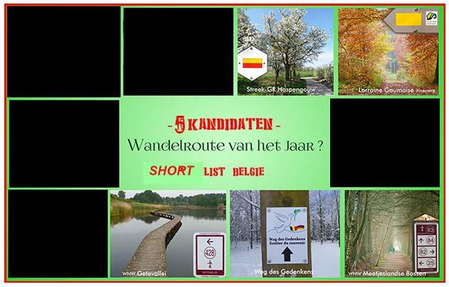shortlist wandelroute van het jaar