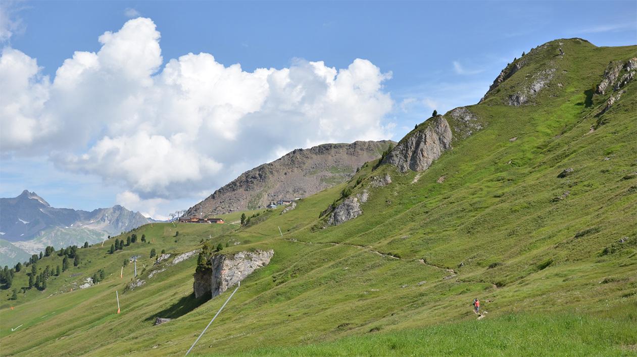 Paznauner Taja via Silvrettabahn, Idalp en Vider Alp