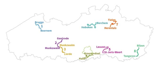 Kaart treinstappers