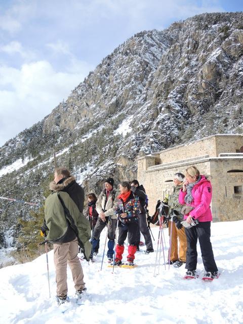 winterwandeling naar een Vauban-fort